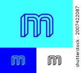 impossible letter m. elegant m... | Shutterstock .eps vector #2007422087
