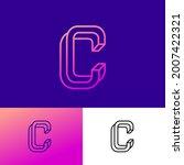 impossible letter c. elegant c... | Shutterstock .eps vector #2007422321