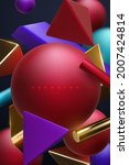 multicolored geometric shapes... | Shutterstock .eps vector #2007424814