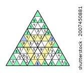 triangle sudoku printable... | Shutterstock .eps vector #2007450881