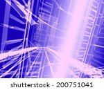 abstract modern architecture | Shutterstock . vector #200751041