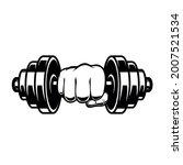 fist with dumbbell. design...   Shutterstock .eps vector #2007521534