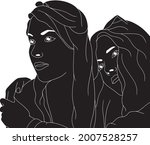 two girls in a cute pose  happy ...   Shutterstock .eps vector #2007528257