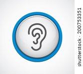 ear icon   Shutterstock .eps vector #200753351