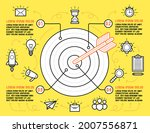 infographic template with four... | Shutterstock .eps vector #2007556871