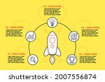 infographic template with five... | Shutterstock .eps vector #2007556874
