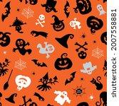 halloween design. halloween... | Shutterstock .eps vector #2007558881
