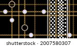 seamless pattern decorated with ... | Shutterstock .eps vector #2007580307