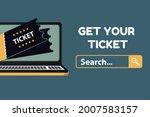get your ticket concept  ... | Shutterstock .eps vector #2007583157