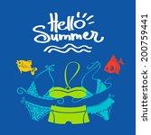summer background. vector... | Shutterstock .eps vector #200759441