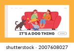 kids fun at home landing page...   Shutterstock .eps vector #2007608027