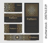 business cards pattern with...