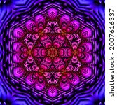 fractal illustration of bright...   Shutterstock . vector #2007616337