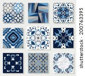 Collection Of 9 Ceramic Tiles ...
