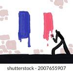 French Flag Painting Graffiti...