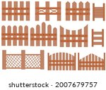 Set Of Wooden Fence.collection...