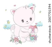animal for baby products and... | Shutterstock .eps vector #2007701594