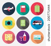 traveling related icon