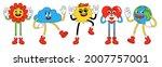 funny cartoon characters.... | Shutterstock .eps vector #2007757001