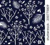 tropical pattern   Shutterstock .eps vector #200775809