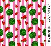 fruity seamless vector pattern...   Shutterstock .eps vector #2007779507