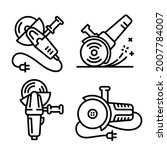 angle grinder icons set....   Shutterstock .eps vector #2007784007