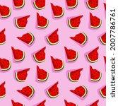 vector watermelon background...   Shutterstock .eps vector #2007786761