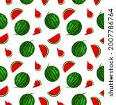 vector watermelon background...   Shutterstock .eps vector #2007786764
