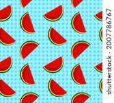 vector watermelon background...   Shutterstock .eps vector #2007786767