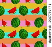 vector watermelon background...   Shutterstock .eps vector #2007791471