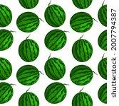 vector watermelon seamless...   Shutterstock .eps vector #2007794387