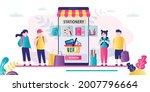 group of school children... | Shutterstock .eps vector #2007796664