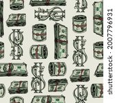 money colorful vintage seamless ... | Shutterstock .eps vector #2007796931