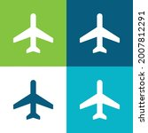 airplane mode flat four color...   Shutterstock .eps vector #2007812291