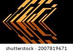 abstract yellow arrow 3d cyber...   Shutterstock .eps vector #2007819671