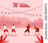 indonesia independence day... | Shutterstock .eps vector #2007828974