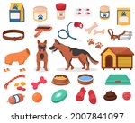 dog accessories and pet toy... | Shutterstock .eps vector #2007841097