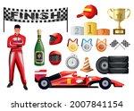 motor race formula car driver... | Shutterstock .eps vector #2007841154