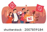 protesting people. angry... | Shutterstock .eps vector #2007859184