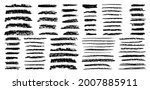 coal pencils strokes grunge... | Shutterstock .eps vector #2007885911