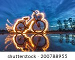 Bicycle Light Painting...