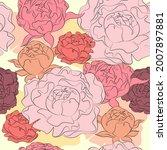 beautiful hand drawn bouquet of ...   Shutterstock .eps vector #2007897881