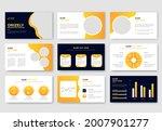 business presentation slides... | Shutterstock .eps vector #2007901277