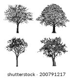 set of hand drawn trees.... | Shutterstock .eps vector #200791217