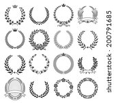 a set of nine high detail... | Shutterstock .eps vector #200791685
