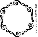 music note frame | Shutterstock .eps vector #200791781