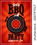 bbq party design with vinyl... | Shutterstock .eps vector #200797517