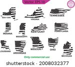 set of us states maps. map of... | Shutterstock .eps vector #2008032377