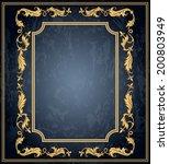 vintage ornament frame in retro ... | Shutterstock .eps vector #200803949