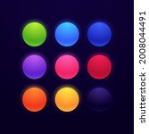 set of glowing neon colored... | Shutterstock .eps vector #2008044491